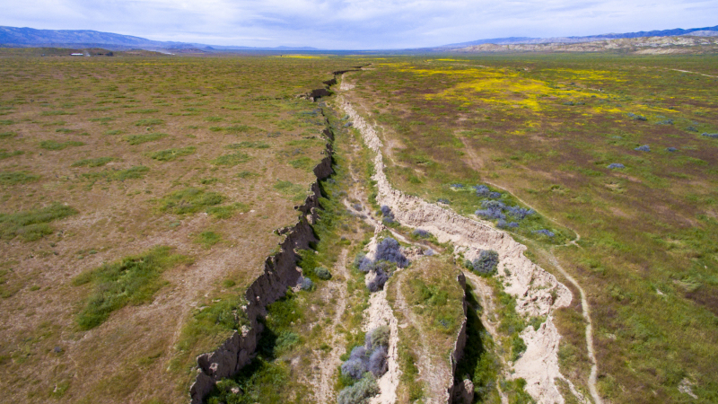 San Andres Fault Low Altitude